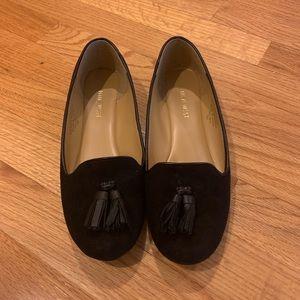 Nine West Black Suede Tassel Loafers